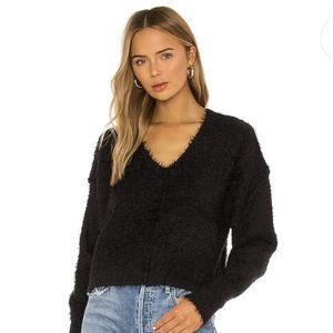 Free People Black V Neck Sweater Medium